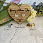 Mothers Day Heart with Mirror Acrylic Earings
